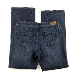 "Levi's 525 10"" High Rise Boot Cut Jeans Plus 16 M"